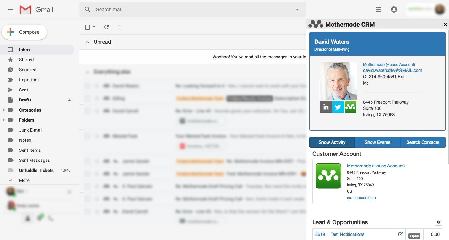 Mothernode CRM Chrome Extension – Mothernode Support